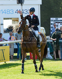 Kristina Cook and STAR WITNESS, show prize giving, Land Rover Burghley Horse Trials 2018
