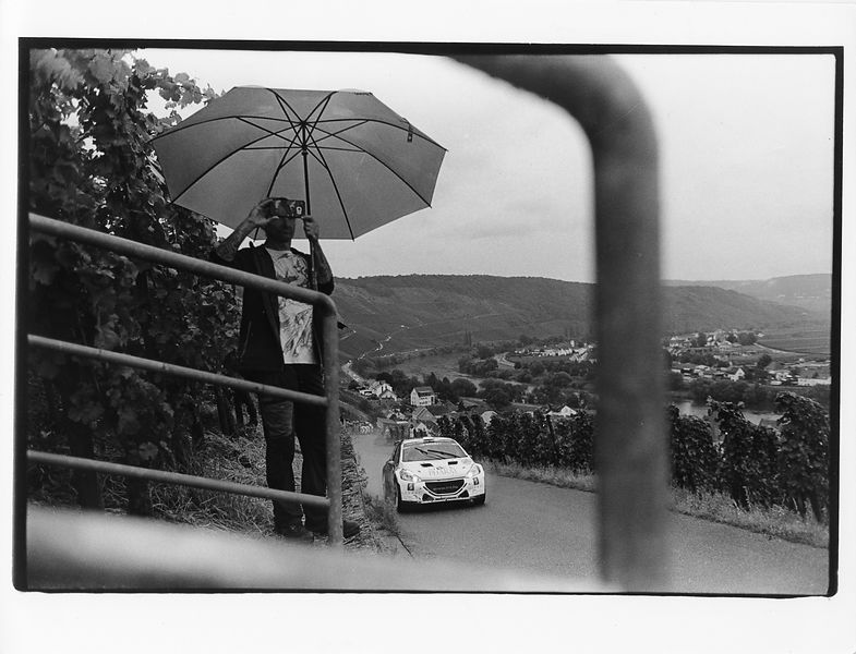 photo Francois Baudin / Austral, black and white picture with analog camera during Rally Deutschland in Bostalsee, on August 16, 2017
