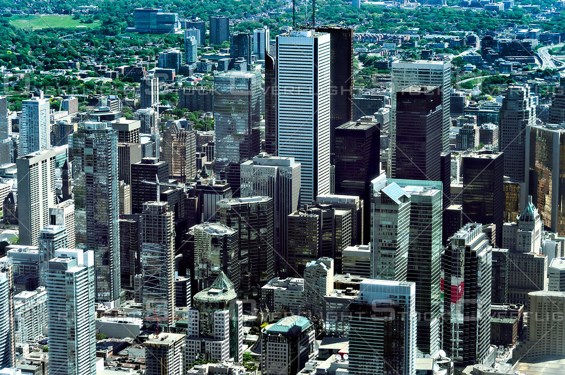 Overflightstock Downtown Core Of The City Of Toronto Aerial Stock Photo