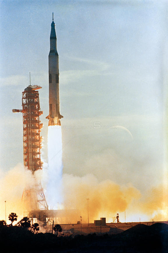S68-56002 (21 Dec. 1968) --- The Apollo 8 (Spacecraft 103/Saturn 503) space vehicle is launched from Pad A, Launch Complex 39, Kennedy Space Center (KSC)