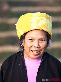 Portrait of chinese Zhuang minority worker, China