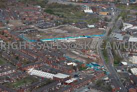 Oldham aerial photograph of the Urban renewal scheme Primrose Bank