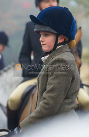 Followers at the meet - The Cottesmore Hunt at the Blue Ball 11/12