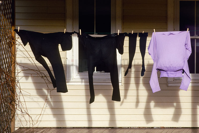 Amish Laundry Drying on a Line