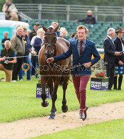 Nicholas Lucey and PROUD COURAGE at the trot up, Land Rover Burghley Horse Trials 2018