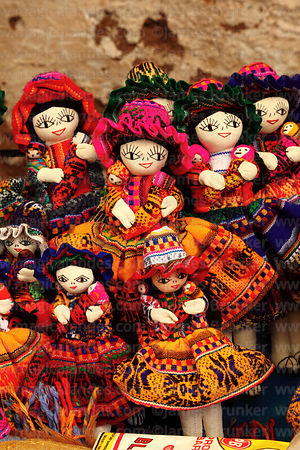Textile dolls for sale in Pisac market, Sacred Valley, Peru