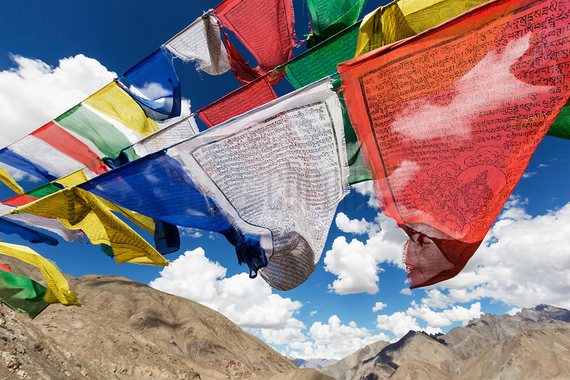 View of Prayer Flags