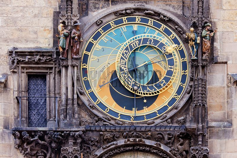Astronomical Clock, Old Town, Stare Mesto, Prague, Czech Republic