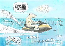 Polar Bear On A Jet-Ski