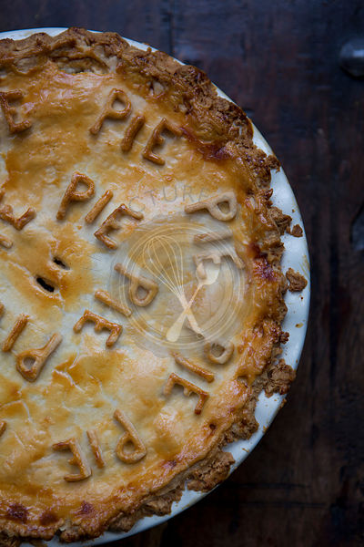 Fruit Pie with Pie Pastry Letters