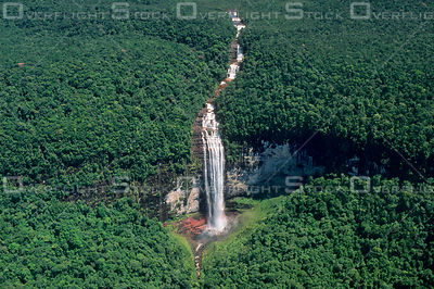 Waterfall in Guiana Highlands Rainforest of Venezuela