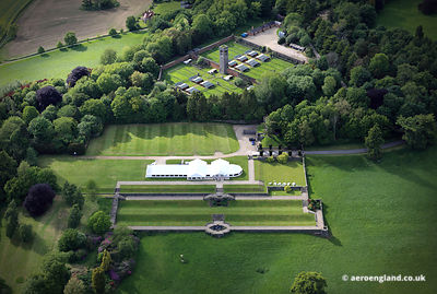 aerial photograph of Osmaston Park Derbyshire