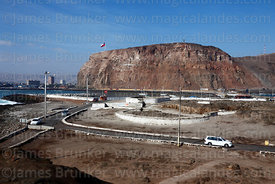 View of El Morro headland from Alacrán Island, Arica, Region XV, Chile