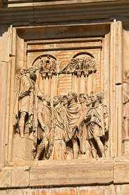 Relief on the Arch of Constantine, Rome, Italy; Portrait