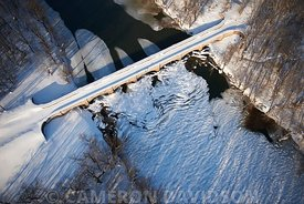 Aerial, C&O Canal in Winter