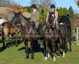 Household Cavalry Troopers at the Cottesmore Hunt meet at Burrough House 17/12