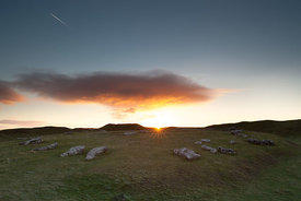 Sunrise at Arbor Low