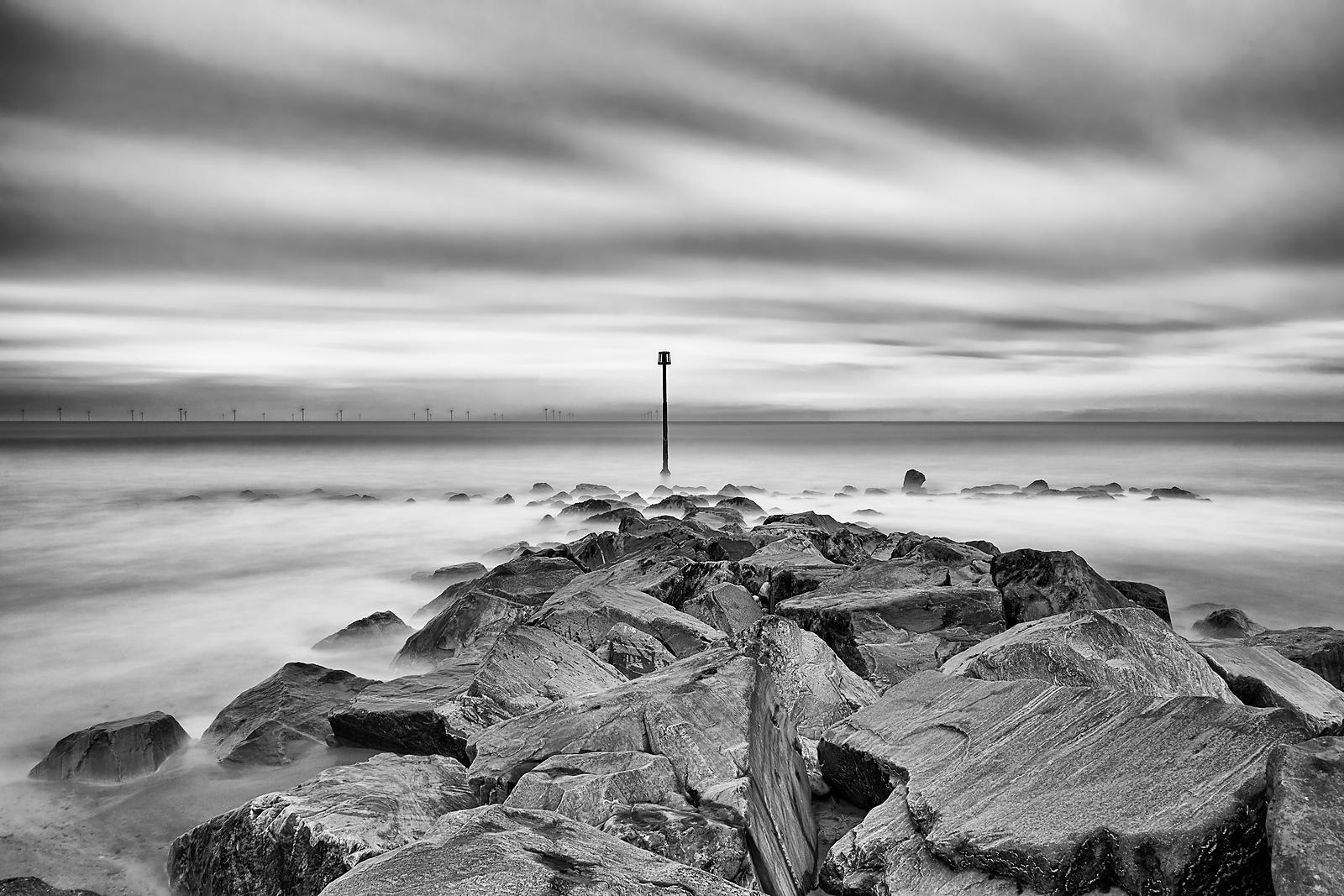 Landscape | Black and white canvas wall art | Peace among the rocks
