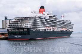Queen Victoria berthed at the Queen Elizabeth II Terminal in Southampton, prior to her cruise to Bergen, Norway.