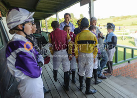Pony Racing jockeys wait for their turn - Meynell and South Staffs at Garthorpe, 2nd June 2013