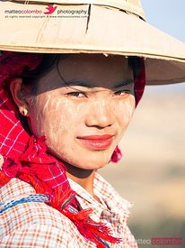 Portrait of young beautiful asian woman, Myanmar