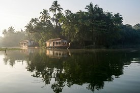 Inde, Kérala, Allepey, les Backwaters // India, Kérala, Allepey, the Backwater