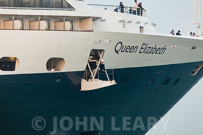 Queen Elizabeth's Maiden Arrival photos