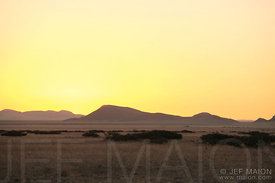 Sunset over African plain