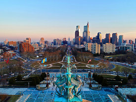 Art Museum and Ben Franklin Parkway  Philadelphia Pennsylvania