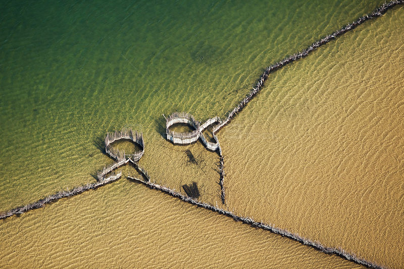 Aerial photograph of Kosi Bay, KwaZulu-Natal Province, South Africa, Traditional Fish Traps, June 2010