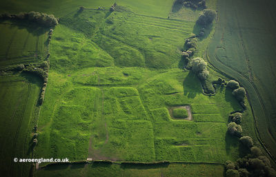North Marefield deserted medieval village (DMV) Leicestershire England from the air