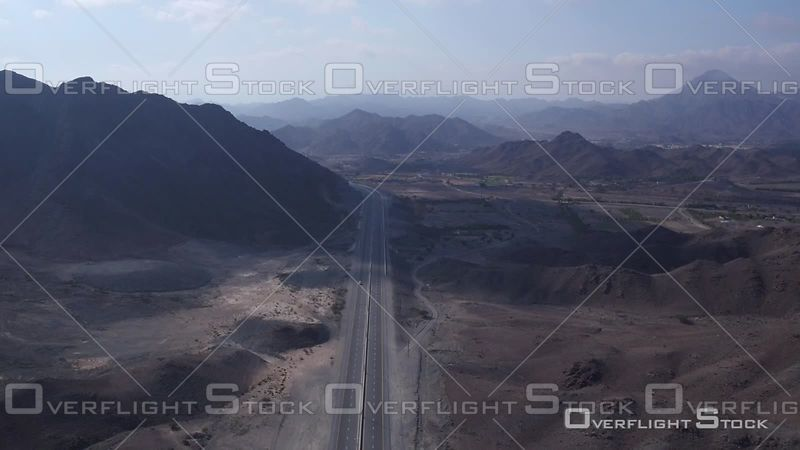 Road and Mountains of Djebel Ali, United Arab Emirates