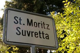 via Suvretta with the hill of the most expensive villas in Switzerland.