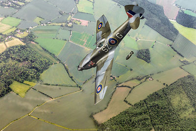 Dive bombing Spitfire
