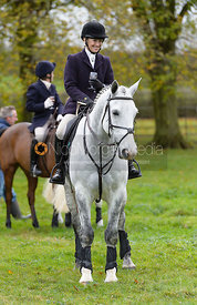 Jane Shears at the meet - Cottesmore Hunt Opening Meet, 24/10/2017
