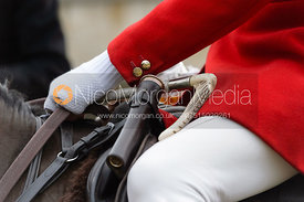 Andrew Osborne at the Cottesmore Hunt meet at Little Dalby Hall