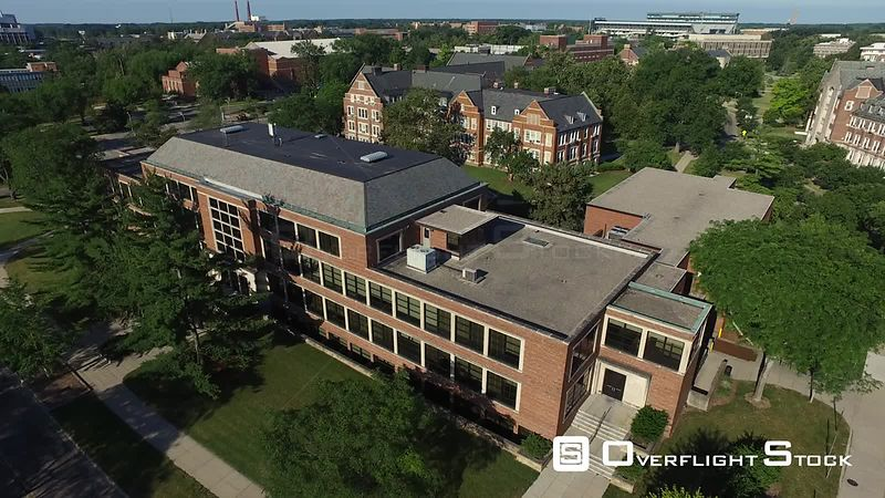 Drone Video of Michigan State University at East Lansing. Department of Psychology
