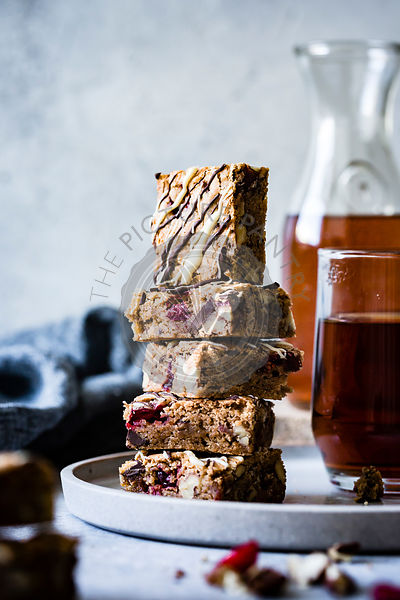Homemade Cranberry Blondies