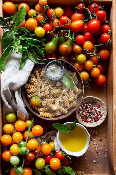 Pasta, Tomatoes and Olive oil