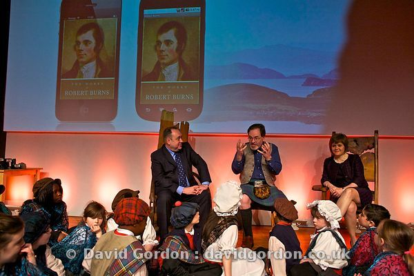 Alex Salmond at Storytelling Centre