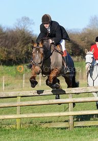Roger Weatherby jumping a hunt jump at Burrough House