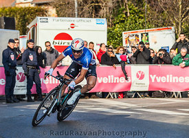 The Cylist Chavanel Sylvain- Paris Nice 2013 Prologue in Houilles