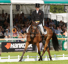 Gary Parsonage and SLIGO LUCKYVALIER - dressage phase,  Land Rover Burghley Horse Trials, 5th September 2013.