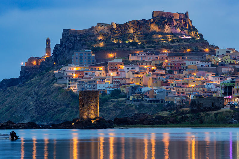 Skyline of Castelsardo at Dawn