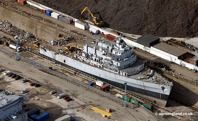 HMS Intrepid being scrapped / recycled at Liverpool
