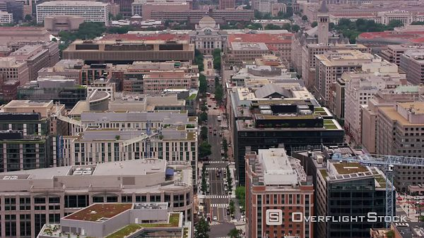 Washington, D.C. Flying up 10th street to Smithsonian National Museum of Natural History.  Shot with Cineflex and RED EpicW Helium.