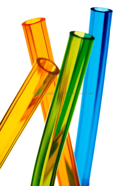 Abstract colorful close up of plastic tubes