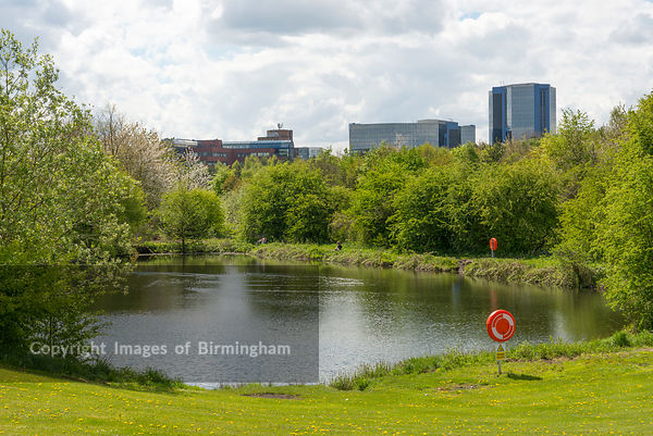 Business Park and lake, Telford