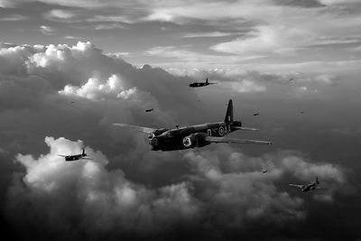 Vickers Wellingtons black and white version