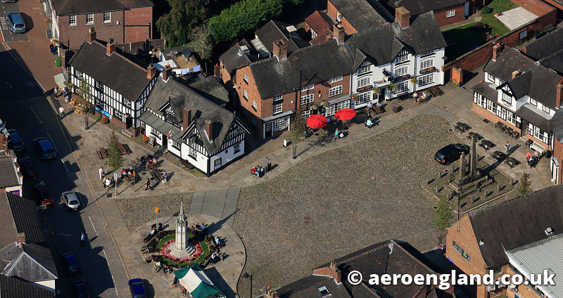 aerial photograph of  Sandbach Cheshire England UK
